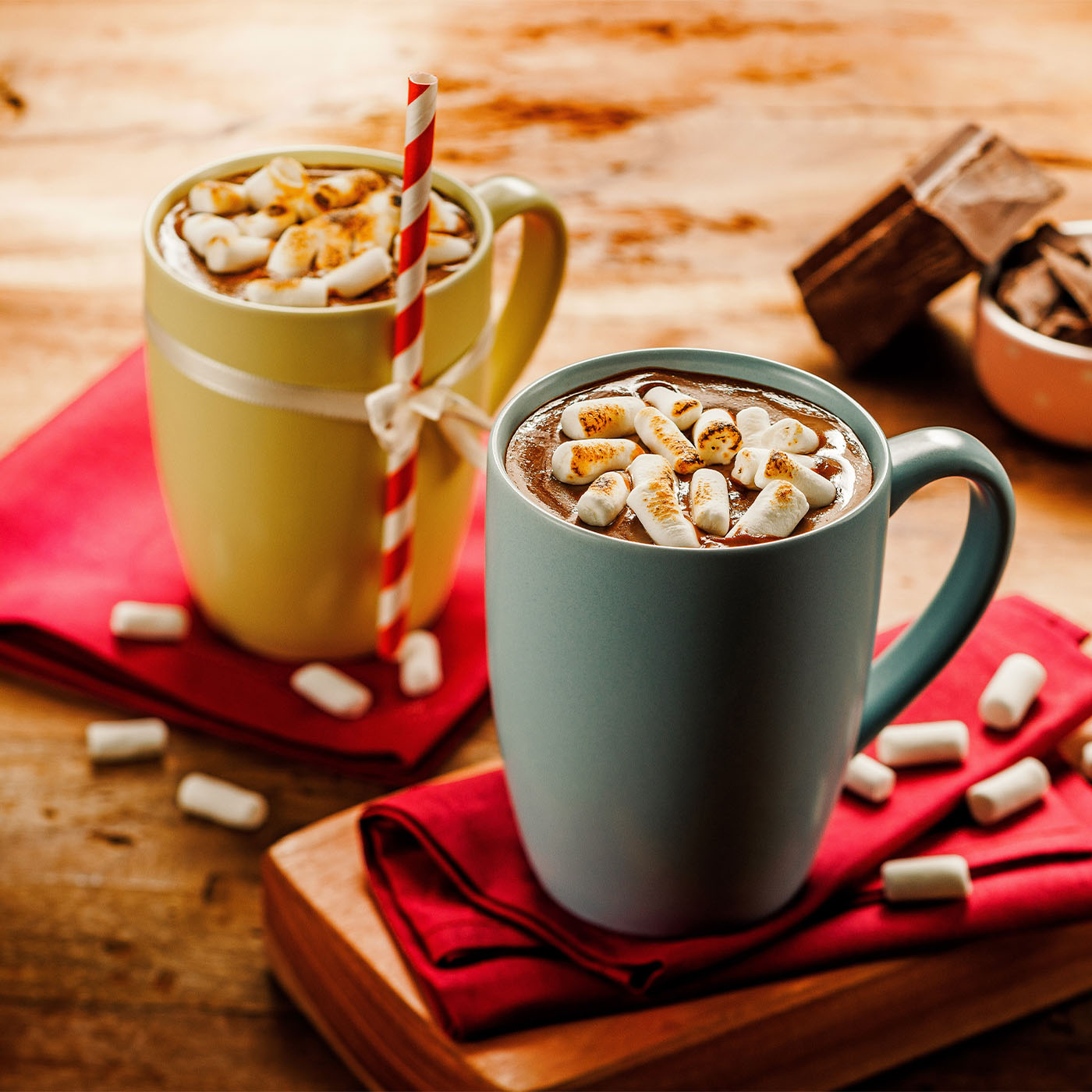 Chocolate Quente Cremoso com Marshmallow