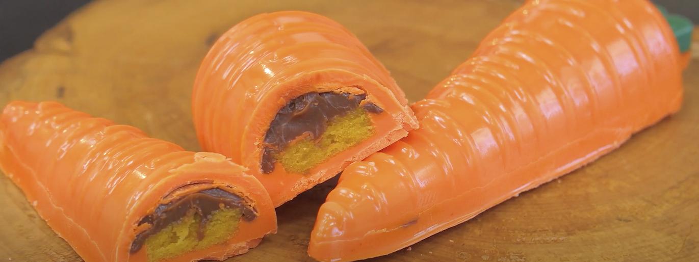 cenoura recheada com chocolate