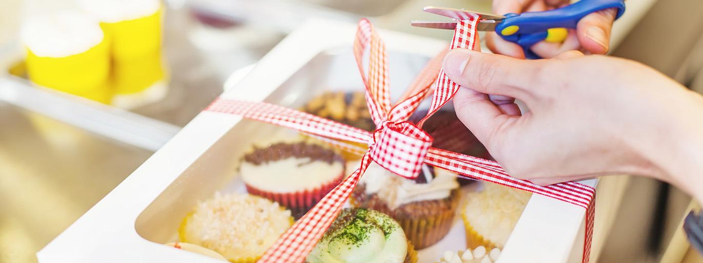caixa de presente com doces